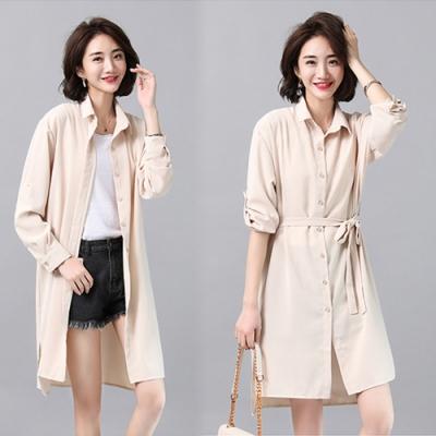 【韓國K.W.】峇裡渡假長袖防曬襯衫外套-3色