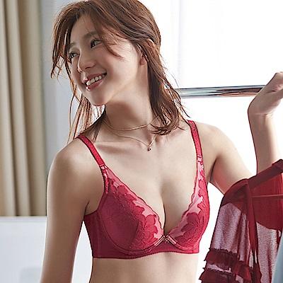 蕾黛絲-愛樂芙V真水 D罩杯內衣(真愛緋紅)