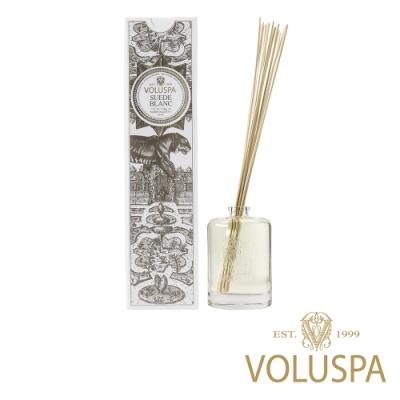 美國香氛VOLUSPA 白屋系列 布蘭克絨 浮雕玻璃罐室內擴香177ml