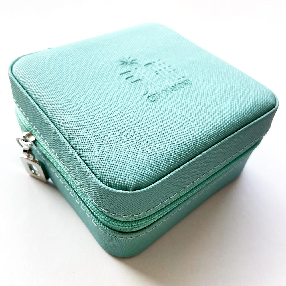 City Diamond引雅 旅行收納飾品珠寶盒-亮藍