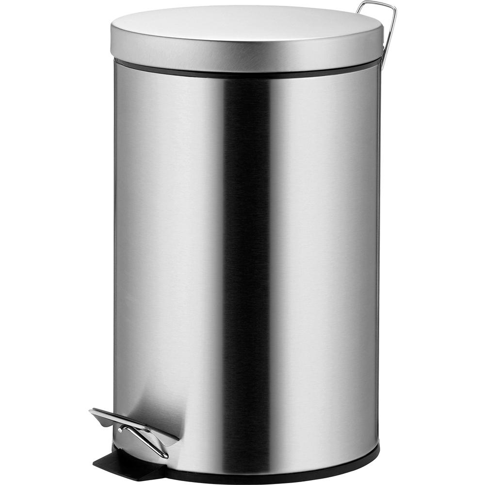 《KELA》Mala腳踏式垃圾桶(霧銀12L)