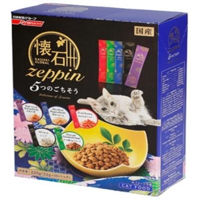 日清懷石zeppi-5Dish懷石極品-5味盛宴貓糧 220克(22克*10小包) 兩盒組