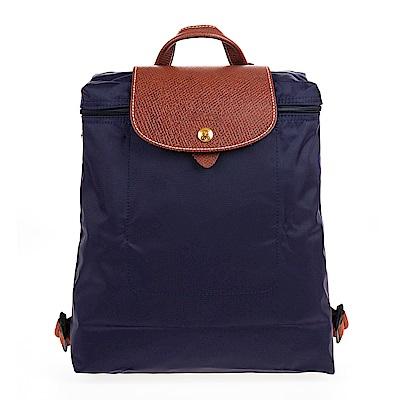 Longchamp Le Piage拉鍊尼龍後背包紫色
