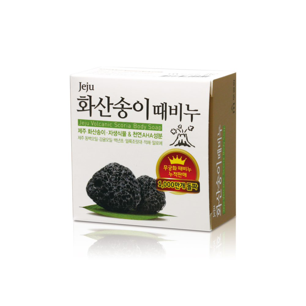 韓國MKH無窮花-汗蒸幕濟州火山岩去角質搓仙皂 100g