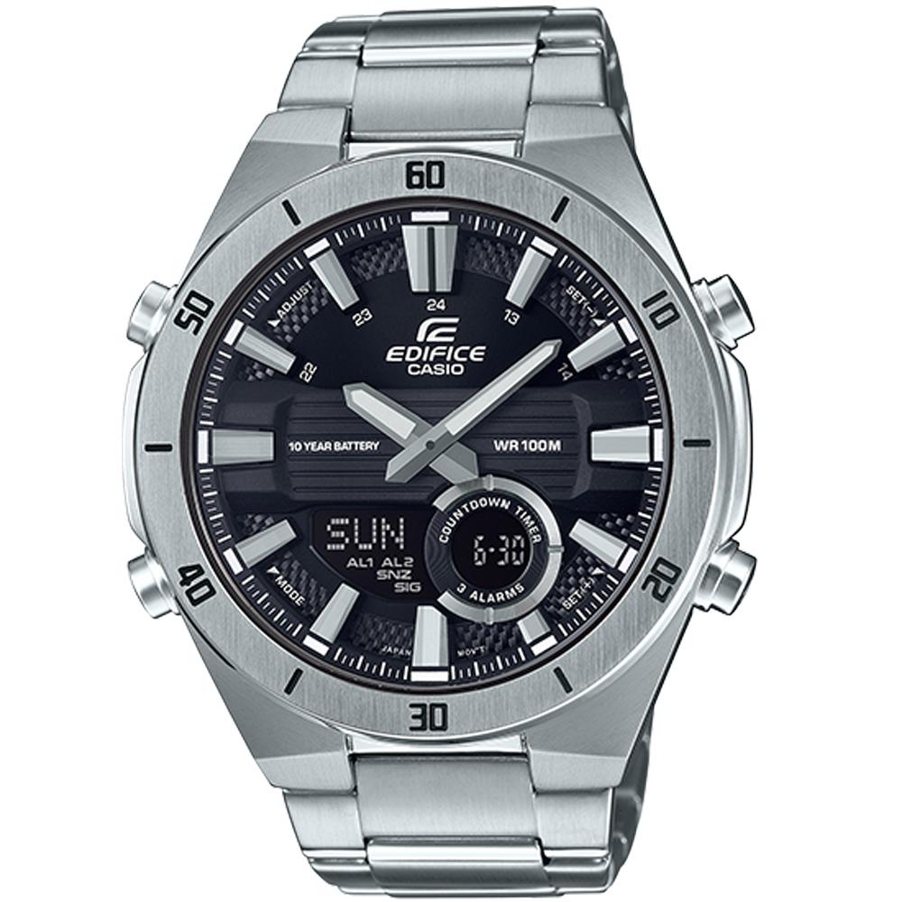 CASIO卡西歐EDIFICE 10年電力3D立體時尚腕錶(ERA-110D-1A)