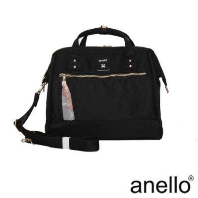 anello RE:MODEL 防潑水經典口金波士頓包 黑色  Regular