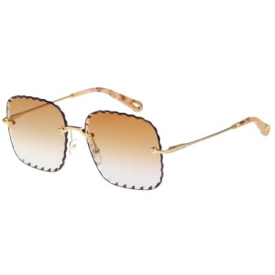 CHLOE 無框方形 太陽眼鏡(咖啡色)CE161S