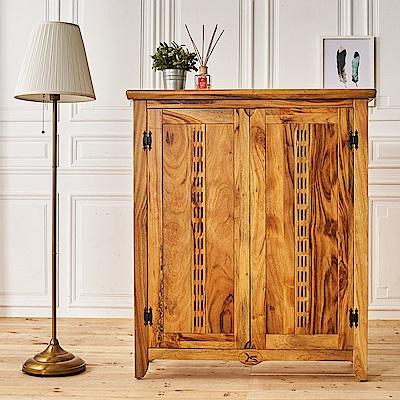 時尚屋 赫達3.5尺全實木鞋櫃 寬105.5x深37x高123cm