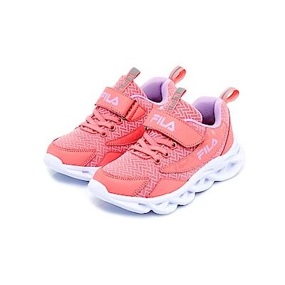 FILA KIDS 大童MD輕量慢跑鞋-粉紫 3-J801U-559