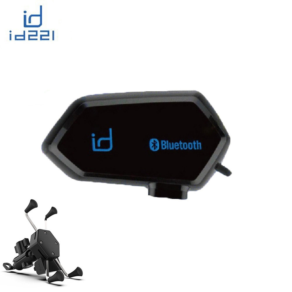 id221 MOTO A1 機車安全帽專用藍牙耳機 + X型機車專用支架 再送三合一傳輸線