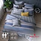 MONTAGUT-蘇菲的畫布-100%純棉-兩用被床包組(藍-加大)