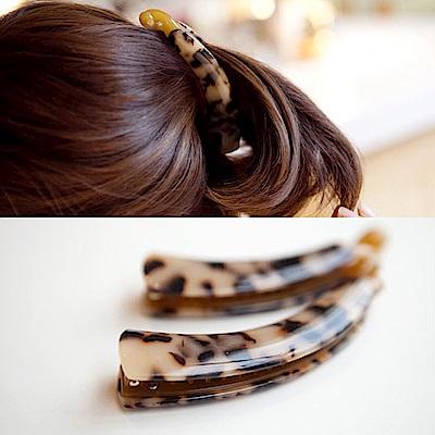梨花HaNA 韓國好質感琥珀色豹紋香蕉夾 @ Y!購物