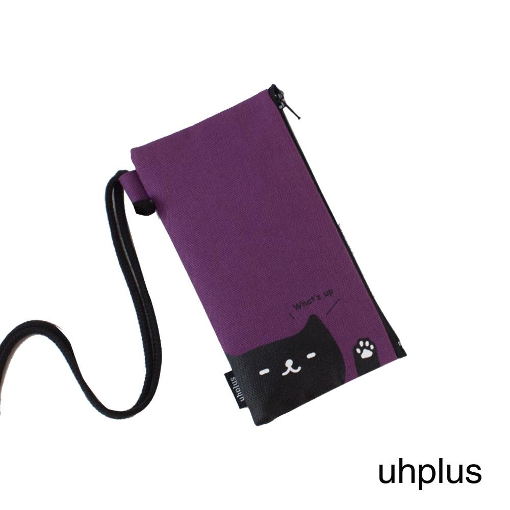 uhplus手機袋-喵日常 Whats up (紫)