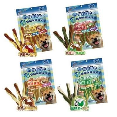 【3入組】喜樂寵宴JOY FOOD每日潔-雙色螺旋保健潔牙骨 290G 袋裝 購買第二件贈送寵鮮食零食1包