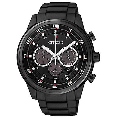 CITIZEN 星辰光動能三環計時腕錶CA4035-57E-IP黑/44mm