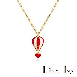 Little Joys 原創設計品牌 Heart Balloon紅白設計項鍊 925銀鍍金