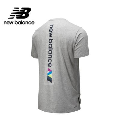 【New Balance】R.W.T.科技棉感印花短袖上衣_男性_灰色_AMT01061AG