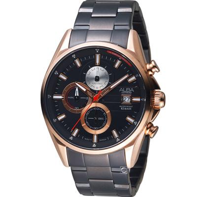 ALBA雅柏 潮流時尚計時腕錶(AM3598X1)44mm