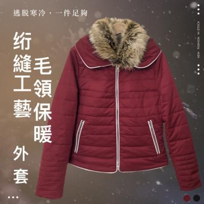 外套-LIYO理優-毛領保暖外套-O938004