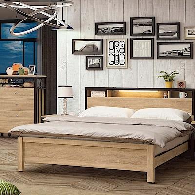 文創集 藍柏頓6尺雙人加大床組(床頭片+床底+不含床墊)-188.2x205.1x91.2cm
