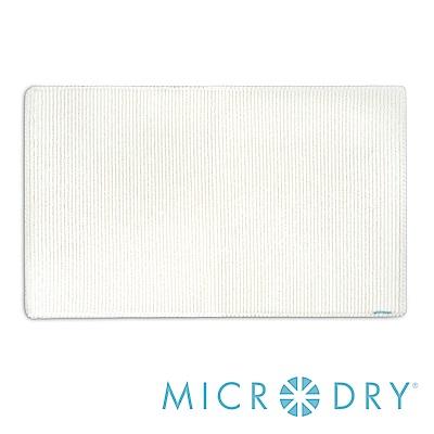 Microdry 時尚地墊 橫紋記憶綿 - 象牙白/ L