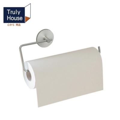 Truly House 免打孔304不鏽鋼長版紙巾架 廚房紙巾架 毛巾架 衛生紙架 無痕貼