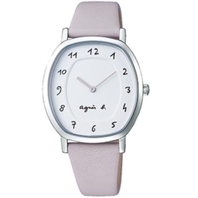 agens b. marcello系列手寫時標經典女錶(BJ5018X1)-粉紫
