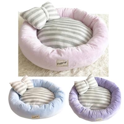 寵愛有家-秋冬保暖水晶絨圓型寵物窩(寵物睡窩)