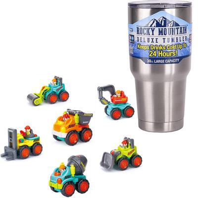 《Super Construction Vehicles》擬真工程車6入+冰霸杯組