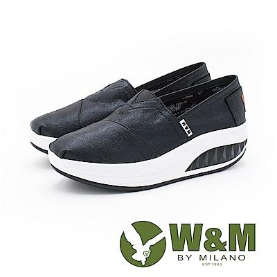 W&M BOUNCE系列 厚底增高鞋 女鞋-珠光黑(另有珠光金粉)