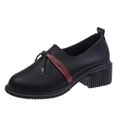 KEITH-WILL時尚鞋館 好評加碼時尚潮流英倫復古粗跟皮鞋-黑
