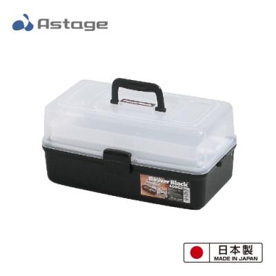 日本 Shelf Power Black 多功能2層收納箱400-G2