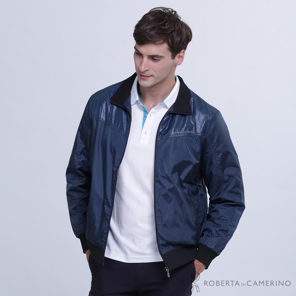 ROBERTA諾貝達 帥氣型男 內裡刷毛夾克外套 深藍