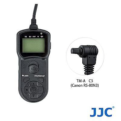 JJC TM-A 液晶定時快門線 C3 (相容Canon RS-80N3)