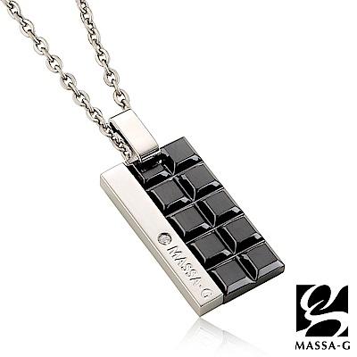 MASSA-G deco系列【100%朱古力】金屬鍺錠純鈦項鍊