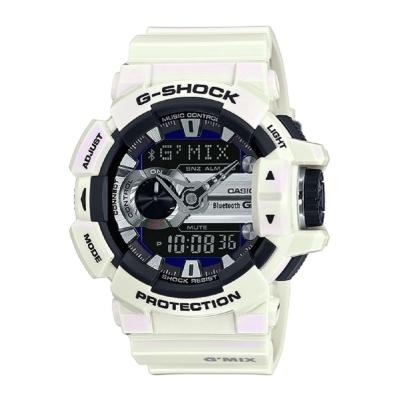 G-SHOCK MIX玩酷生活音樂控制藍芽錶(GBA-400-7C)-珠光白/51.9mm