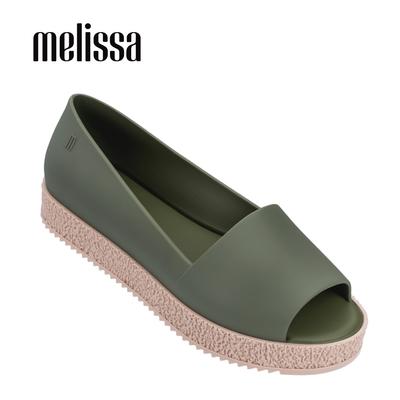 Melissa PUZZLE 魚口厚底鞋-綠