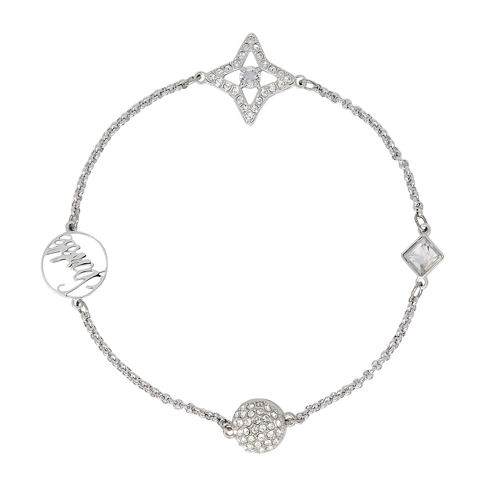 SWAROVSKI 施華洛世奇 REMIX COLLECTION璀璨星形水晶銀色手鍊手環