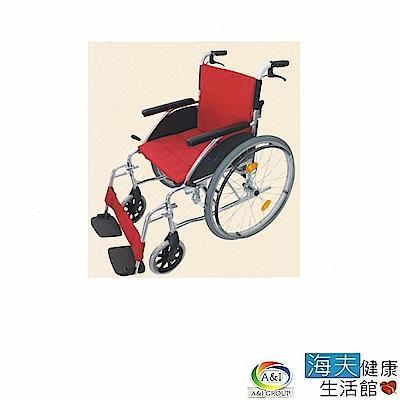海夫健康生活館 康復 F17-2481S可拆腳輪椅 (塑鋼輪)