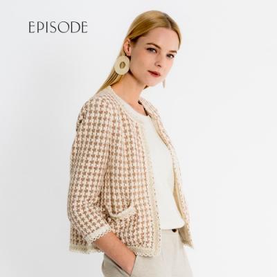 EPISODE - 知性優雅人字紋小香風外套