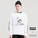 Levis 男款 大學T Snoopy限量系列 字母袖邊