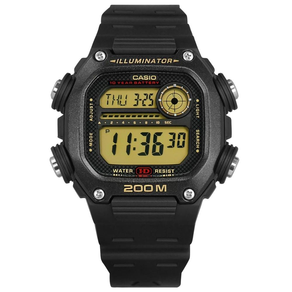 CASIO 卡西歐 卡西歐 電子液晶手錶-黑 / DW-291H-9A  / 41mm