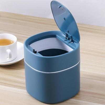 iSFun 彈蓋圓桶 北歐極簡桌面收納垃圾桶 2色可選