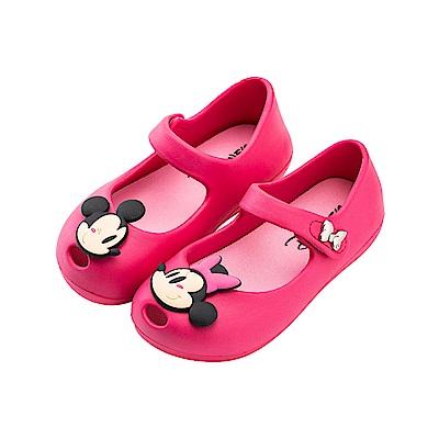 迪士尼童鞋 米奇米妮 Q版防水娃娃鞋-桃