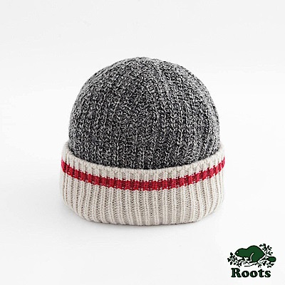 Roots-配件- 溫馨佳節針織帽 - 灰色