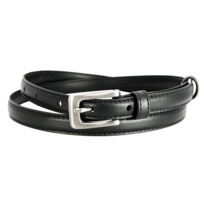 CH-BELT顯瘦超細版流行百搭女生腰帶皮帶(黑)