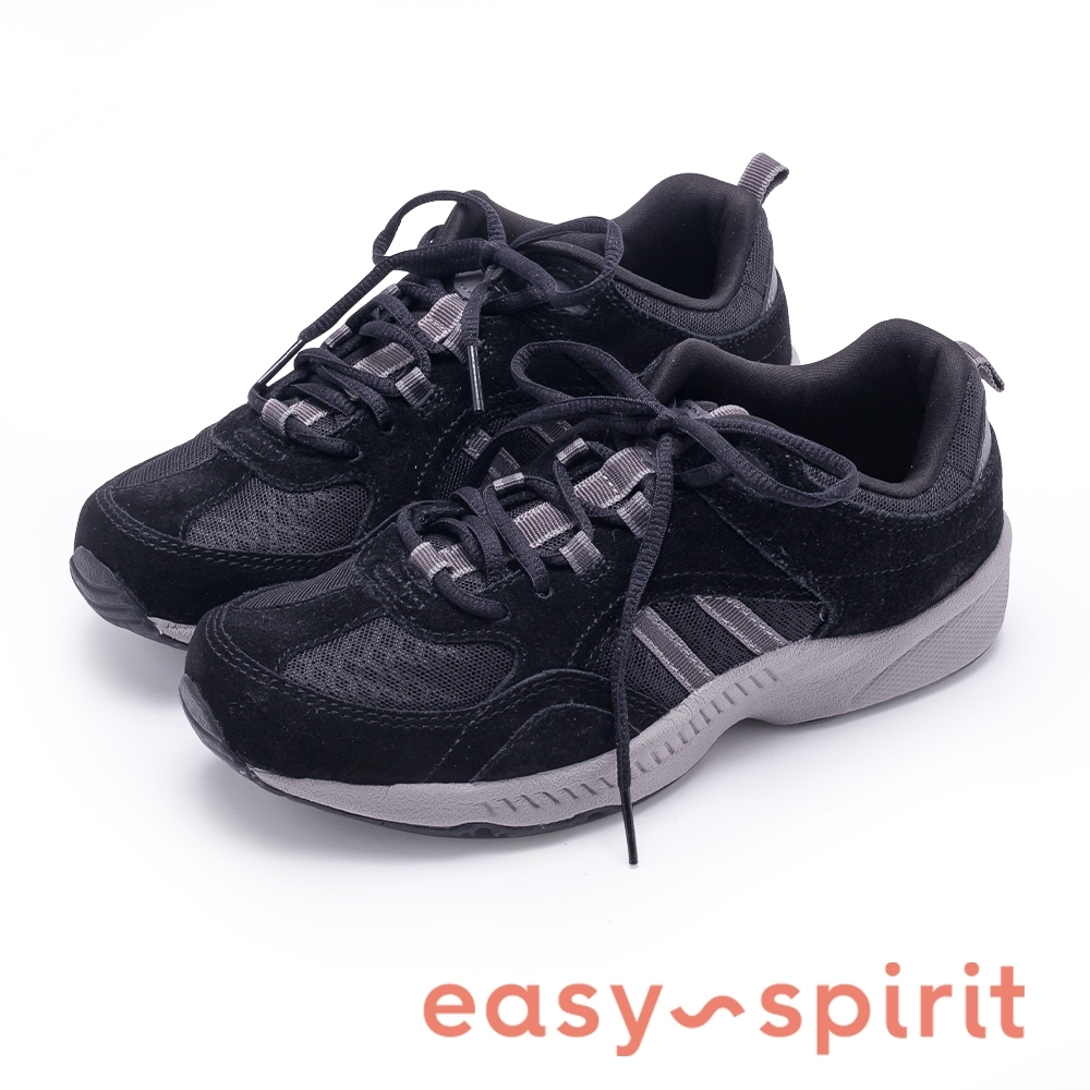 Easy Spirit ESROCKIE 輕鬆行走 包覆舒適休閒鞋-絨黑