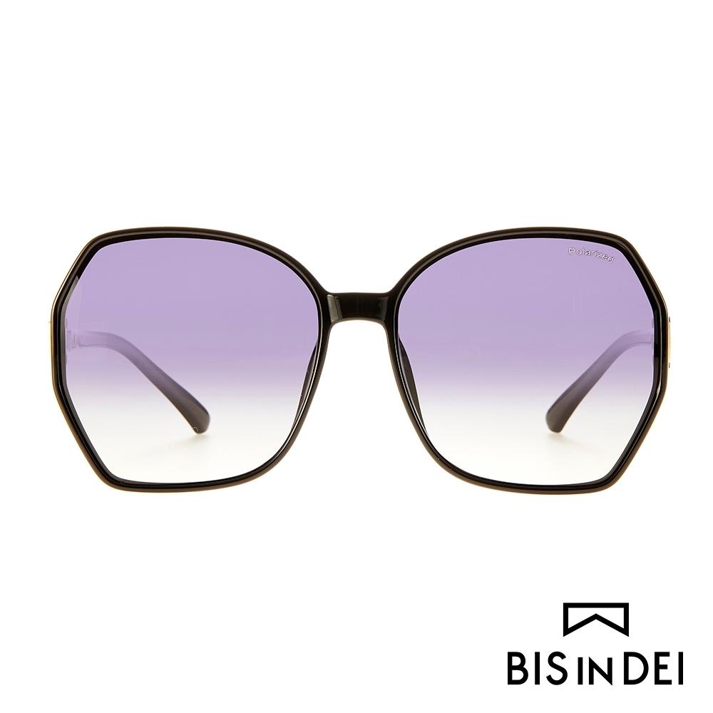 BIS IN DEI 復古爵士框太陽眼鏡-黑