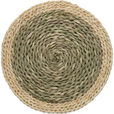 《CreativeTops》雙色天然編織餐墊2入(32cm)