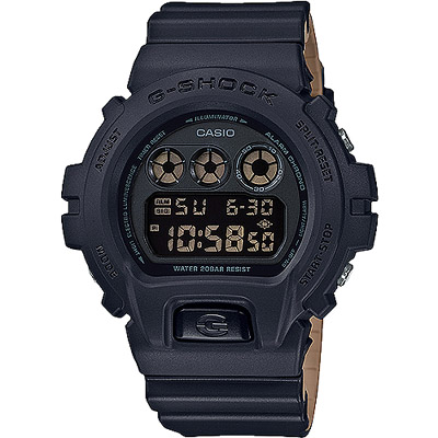 G-SHOCK 一級玩家多功能數位男錶-黑X咖啡(DW-6900LU-1D)/50mm